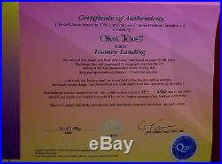CHUCK JONES CEL LOONEY LANDING DAFFY DUCK SIGNED #114/250 WithCOA