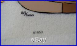 CHUCK JONES CEL SANTA ON TRIAL BUGS BUNNY SIGNED #58/500 WithCOA WOW #58/500
