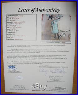 CHUCK JONES, CHEF BUGS BUNNY, Signed VINTAGE Ltd Ed CEL 38/100 SUPER RARE 82 COA