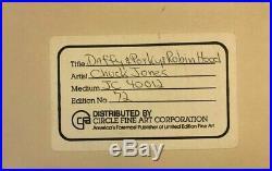 CHUCK JONES Daffy & Porky Pig Robin Hood Limited Edition Signed Cel