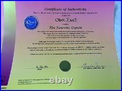 CHUCK JONES Hand Signed Animation Cel THE NEUROTIC COYOTE ROADRUNNER WILE E COA
