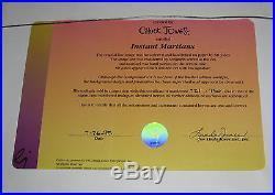 CHUCK JONES INSTANT MARTIANS Signed MARVIN THE MARTIAN CEL with COA MINT