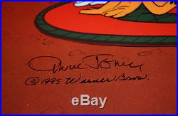 CHUCK JONES JUST FUR LAUGHS ANIMATION CEL SIGNED #239/500 WithCOA BUGS BUNNY