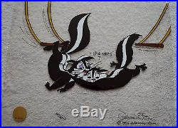 CHUCK JONES KITTY CATCH ANIMATION CEL SIGNED #156/500 WithCOA PEPE LE PEW