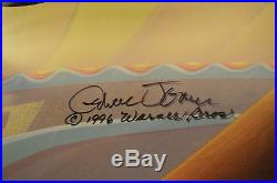 CHUCK JONES KITTY CATCH ANIMATION CEL SIGNED #270/500 WithCOA PEPE LE PEW
