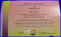 CHUCK JONES KITTY CATCH ANIMATION CEL SIGNED #271/500 WithCOA PEPE LE PEW