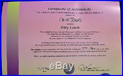 CHUCK JONES KITTY CATCH ANIMATION CEL SIGNED #272/500 WithCOA PEPE LE PEW