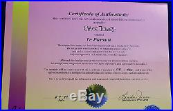 CHUCK JONES LE PURSUIT PEPE LEPEW ANIMATION CELL SIGNED #105/750 WithCOA