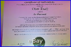 CHUCK JONES LE PURSUIT PEPE LEPEW ANIMATION CELL SIGNED #131/750 WithCOA