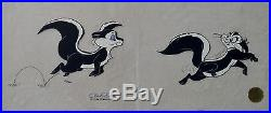 CHUCK JONES LE PURSUIT PEPE LEPEW ANIMATION CELL SIGNED #519/750 WithCOA