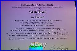 CHUCK JONES LE PURSUIT PEPE LEPEW ANIMATION CELL SIGNED #581/750 WithCOA