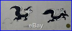 CHUCK JONES LE PURSUIT PEPE LEPEW ANIMATION CELL SIGNED #622/750 WithCOA