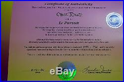 CHUCK JONES LE PURSUIT PEPE LEPEW ANIMATION CELL SIGNED #644/750 WithCOA