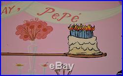 CHUCK JONES PEPE LEPEW 50TH BIRTHDAY ANIMATION CEL SIGNED #252/400 WithCOA