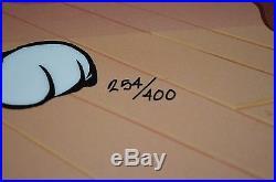 CHUCK JONES PEPE LEPEW 50TH BIRTHDAY ANIMATION CEL SIGNED #254/400 WithCOA