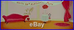 CHUCK JONES PEPE LEPEW 50TH BIRTHDAY ANIMATION CEL SIGNED #267/400 WithCOA