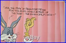 CHUCK JONES PEWLITZER PRIZE ANIMATION CEL BUGS BUNNY SIGNED #469/750 WithCOA