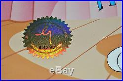 CHUCK JONES PEWLITZER PRIZE ANIMATION CEL BUGS BUNNY SIGNED #479/750 WithCOA