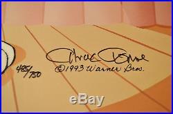 CHUCK JONES PEWLITZER PRIZE ANIMATION CEL BUGS BUNNY SIGNED #485/750 WithCOA