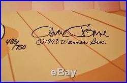 CHUCK JONES PEWLITZER PRIZE ANIMATION CEL BUGS BUNNY SIGNED #486/750 WithCOA
