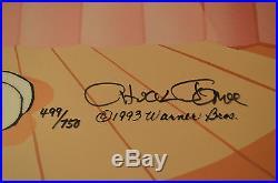 CHUCK JONES PEWLITZER PRIZE ANIMATION CEL BUGS BUNNY SIGNED #499/750 WithCOA
