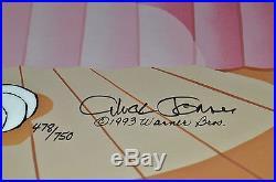 CHUCK JONES PEWLITZER PRIZE SIGNED ANIMATION CEL #478/750 WithCOA BUGS BUNNY