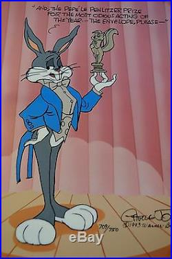CHUCK JONES PEWLITZER PRIZE SIGNED ANIMATION CEL #709/750 WithCOA BUGS BUNNY