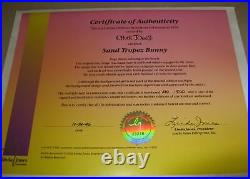 CHUCK JONES, SAND TROPEZ BUNNY, COOL SUN LOVER BUGS BUNNY Signed CEL with COA