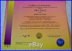 CHUCK JONES SANTA ON TRIAL SIGNED ANIMATION CEL #77/500 WithCOA DAFFY DUCK