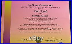 CHUCK JONES SAUSAGE FACTORY ANIMATION CEL SIGNED WithCOA #304/500
