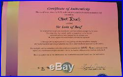 CHUCK JONES SIR LOIN OF BEEF ANIMATION CEL SIGNED/# WithCOA #335/500