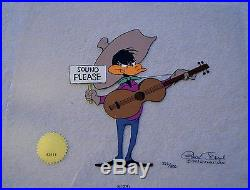 CHUCK JONES SOUND PLEASE LE DAFFY DUCK CEL SIGNED/# WithCOA #372/500 DATED 1993