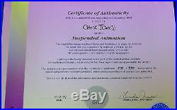 CHUCK JONES SUSPENDED ANIMATION ANIMATED CEL SIGNED #531/750 WithCOA