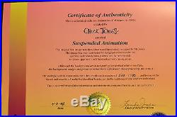 CHUCK JONES SUSPENDED ANIMATION ANIMATED CEL SIGNED #560/750 WithCOA