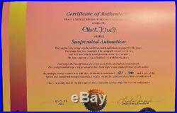 CHUCK JONES SUSPENDED ANIMATION ANIMATED CEL SIGNED #561/750 WithCOA