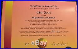 CHUCK JONES SUSPENDED ANIMATION ANIMATED CEL SIGNED #564/750 WithCOA