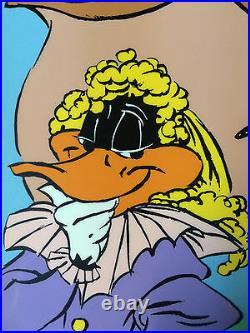 CHUCK JONES Signed Animation Cel Daffy Duck DAFFY CAVALIER COA