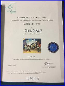 CHUCK JONES Signed Animation Cel MARK OF ZERO Bugs Bunny Daffy Duck Elmer Fudd