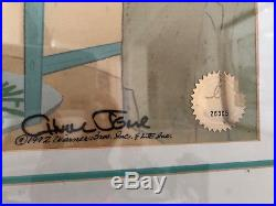 CHUCK JONES Signed Bugs Bunny Smoking Carrot FRAMED LIMITED 1992 Animation Cel