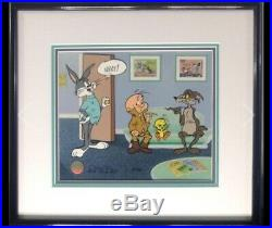 CHUCK JONES Signed Hand Painted Cel Bugs Bunny In Next LE 287/500 With COA