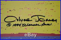 CHUCK JONES THE NEUROTIC COYOTE ANIMATION CEL SIGNED/# WithCOA #297/500 DTD 1994