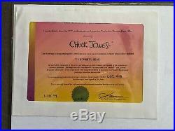CHUCK JONES signed White Seal 1974 Original Production Drawing COA Seal Sketch