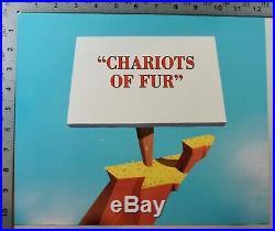 Chariots of Fur Cel #96 of 500 Signed Chuck Jones Wile E Coyote Roadrunner COA