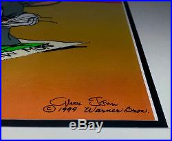 Chuck Jones Animation Cel Signed LEFT AT ALBUQUERQUE Bugs Bunny Rare Cell