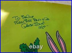 Chuck Jones, Artist Bugs Bunny & Co. Autographed Poster