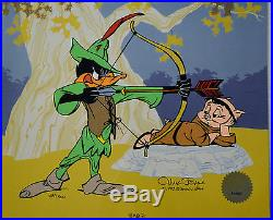 Chuck Jones Bow And Error Signed Animated Cel #434/500 Coa Daffy Duck/porky Pig