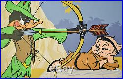 Chuck Jones Bow And Error Signed Animated Cel #441/500 Coa Daffy Duck/porky Pig