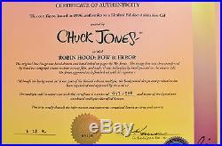 Chuck Jones Bow And Error Signed Animated Cel #447/500 Coa Daffy Duck/porky Pig