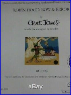 Chuck Jones Bow And Error Signed Animated Cel #78/500 Coa Daffy Duck/porky Pig