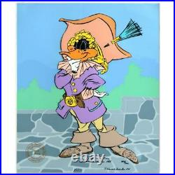 Chuck Jones DAFFY CAVALIER Duck Hand Signed painted Looney Tunes cel COA